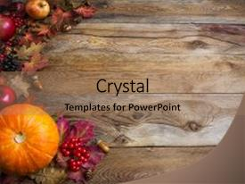 Colorful PPT layouts enhanced with thanksgiving or fall greeting background backdrop and a coral colored foreground.