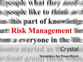PPT theme with the word risk management background and a light gray colored foreground.