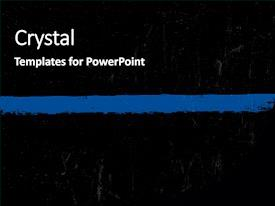 PowerPoint Template: thin blue line police symbol (bgaaydxea)
