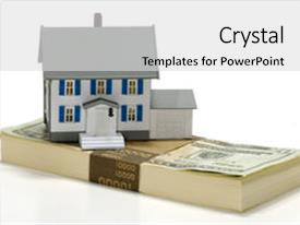 Beautiful slide deck featuring top of money - real estate backdrop and a light gray colored foreground.