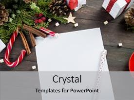 5000 letter powerpoint templates w letter themed backgrounds cool new presentation with top view of christmas letter in santa claus hand close up of spiritdancerdesigns Images