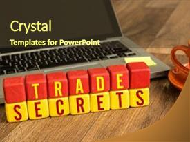 Audience pleasing PPT theme consisting of trade secrets written backdrop and a  colored foreground.