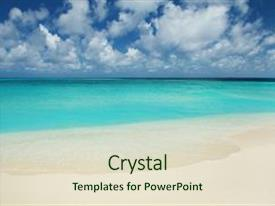 Theme enhanced with water - tropical beach ocean waves background and a soft green colored foreground.
