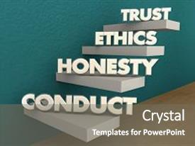 5000 integrity powerpoint templates w integrity themed backgrounds slides enhanced with trust ethics conduct honesty steps reputation 3d illustration background and toneelgroepblik Images