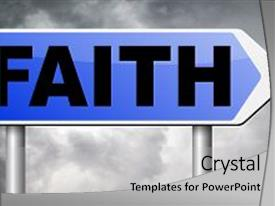 Cool new slide deck with trust in god and jesus backdrop and a light gray colored foreground.