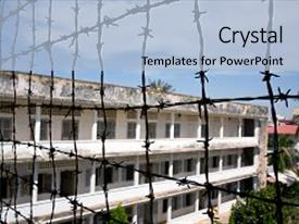 50 torture chamber powerpoint templates w torture chamber themed amazing ppt theme having jail tuol sleng genocide museum phnom backdrop and a light blue toneelgroepblik Choice Image