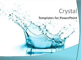 Amazing presentation theme having turquoise-water-splash-isolated backdrop and a white colored foreground