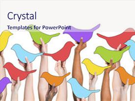 Powerpoint template social media depiction with blue twitter bird custom template design 10000 presentation theme having twitter social toneelgroepblik Gallery