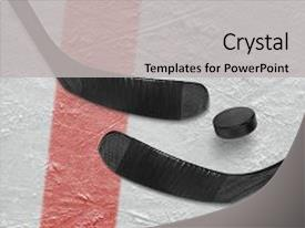 5000 hockey powerpoint templates w hockey themed backgrounds presentation design with two sticks and puck background and a light gray colored toneelgroepblik Choice Image