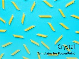 5000 vibrant powerpoint templates w vibrant themed backgrounds colorful ppt theme enhanced with uncooked italian penne pasta scattered backdrop and a cyan colored foreground toneelgroepblik