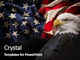PPT theme having united states of america patriotic background and a black colored foreground.