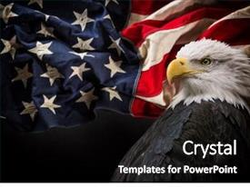Audience pleasing presentation consisting of united states of america patriotic backdrop and a black colored foreground