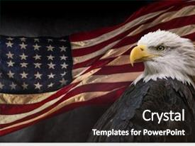 Beautiful presentation design featuring united states of america patriotic backdrop and a wine colored foreground