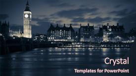 Powerpoint template representation of high buildings blue custom template design 30000 toneelgroepblik Gallery