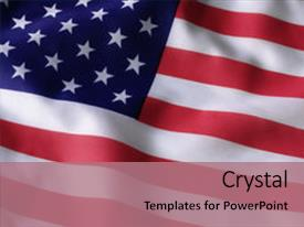 PPT theme consisting of usa flag background and a coral colored foreground.