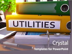 Public utilities powerpoint templates crystalgraphics amazing presentation having utility utilities yellow office folder backdrop and a gray colored foreground toneelgroepblik Choice Image