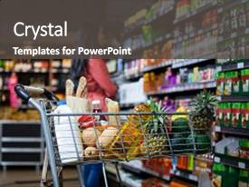 5000 grocery powerpoint templates w grocery themed backgrounds cool new slides with various groceries in shopping cart backdrop and a dark gray colored foreground toneelgroepblik Gallery