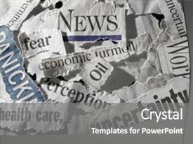 5000 newspaper headlines powerpoint templates w newspaper ppt layouts having various torn newspaper headlines showing background and a gray colored foreground toneelgroepblik Gallery