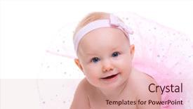 Theme with very cute happy baby girl background and a lemonade colored foreground.