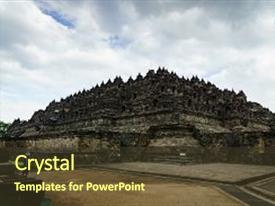 Cultural java powerpoint templates crystalgraphics presentation theme with view of borobudur temple yogyakarta java indonesia background and a colored foreground toneelgroepblik Image collections