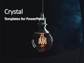 Audience pleasing PPT theme consisting of vintage edison lightbulb with glowing backdrop and a black colored foreground.
