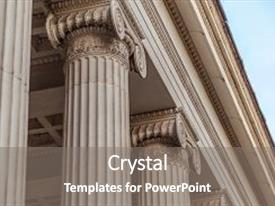 Theme featuring vintage old justice courthouse column background and a gray colored foreground.