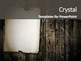 Slide deck featuring vintage paper on old wood background and a dark gray colored foreground.