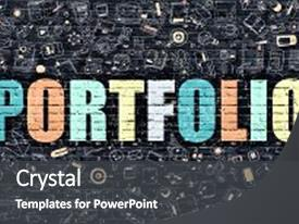 5000 art portfolio powerpoint templates w art portfolio themed presentation theme having art portfolio wall doodle icons doodle design background and a dark gray toneelgroepblik Gallery