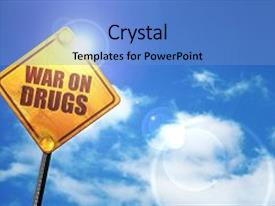 Cool new slide deck with war on drugs 3d rendering backdrop and a  colored foreground.