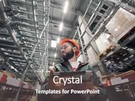 5000 warehouse powerpoint templates w warehouse themed backgrounds theme consisting of warehouse manager checking his inventory in a large warehouse using the tablet via toneelgroepblik Gallery