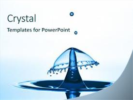Presentation theme with water drop falling and drips background and a  colored foreground.