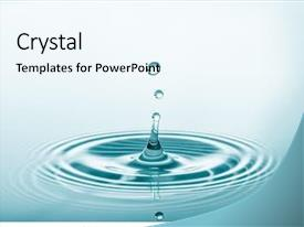 Presentation theme enhanced with water drop falling and drips background and a sky blue colored foreground