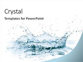Colorful PPT layouts enhanced with water splash isolated on white backdrop and a white colored foreground