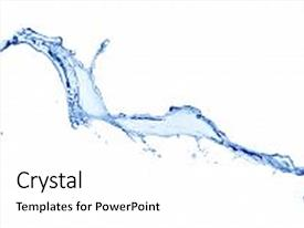 Slide deck with water splash isolated background and a white colored foreground