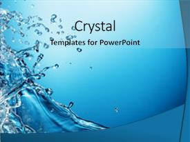 PPT layouts having water splash background and a arctic colored foreground.