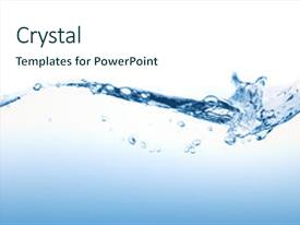 Beautiful presentation theme featuring water splashing backdrop and a cool aqua colored foreground.