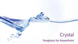 Slide set consisting of water wave of a white background and a pink colored foreground.