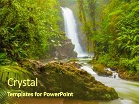 5000 jungle powerpoint templates w jungle themed backgrounds amazing ppt theme having waterfall in the wild backdrop and a tawny brown toneelgroepblik Choice Image