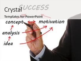 Colorful PPT theme enhanced with way from idea to success backdrop and a white colored foreground.