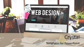 Presentation design consisting of web design website homepage ideas background and a mint green colored foreground