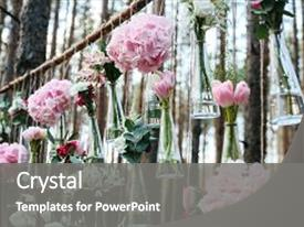 Cool new slides with wedding flowers decoration arch in backdrop and a gray colored foreground.