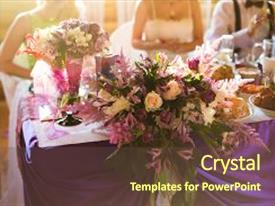Cool new slides with wedding flowers wedding bouquet food backdrop and a tawny brown colored foreground.