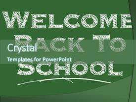 audience pleasing slide deck consisting of welcome back to school illustrated backdrop and a ocean colored