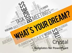 ppt layouts with what s your dream word cloud business concept background and a colored foreground