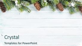 Colorful theme enhanced with white - christmas wooden background with snow backdrop and a sky blue colored foreground