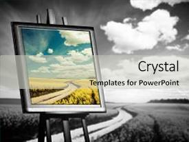 PPT layouts featuring paint - white field concept of art background and a light gray colored foreground.