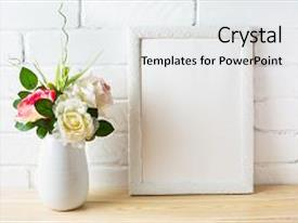 Theme enhanced with white frame mockup for design background and a  colored foreground.