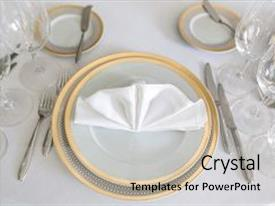 Amazing slide set having yellow canvas tablecloth napkin serviette backdrop and a light gray colored foreground