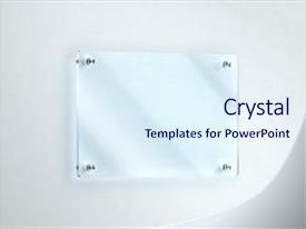 Presentation consisting of white wall office door glassy background and a sky blue colored foreground.