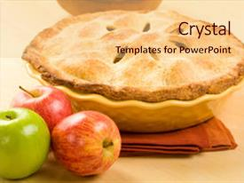 5000 apple pie powerpoint templates w apple pie themed backgrounds slide set having whole apple pie in yellow background and a lemonade colored foreground toneelgroepblik Choice Image